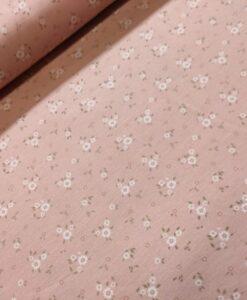 stenzo bloemetjes zalmroze katoenen tricot