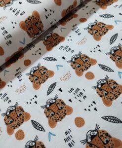 stenzo luipaardkopjes wit kaotenen tricot
