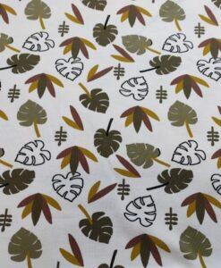 stenzo bladern mosterd groen katoenen tricot