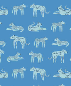 art Gallery Fabrics Fierce Felines Clouds
