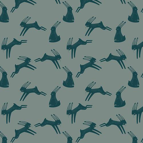 Art Gallery Fabrics Hopping Hare Spruce