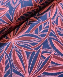 editex viscose burgundy palm