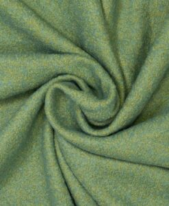 geel groen twp tone boucle mantelstof