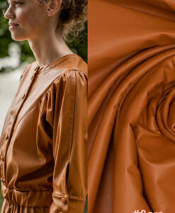 Fibre mood nepleer stretch sugar almond Flora jurk