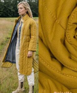 Fibre Mood Giselle jas cotton quiltd Tobaccc
