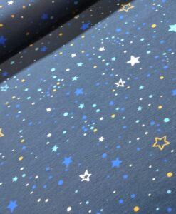 Polly stars blauw geel katoenen tricot