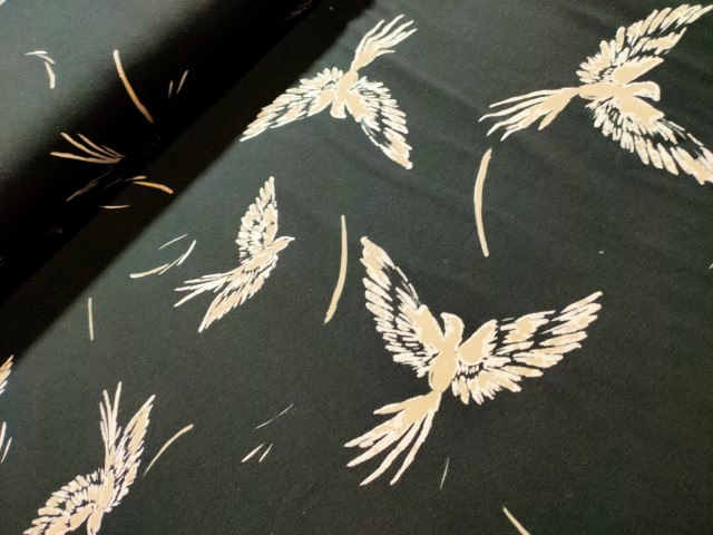 sarah bird with glitter katoenen tricot